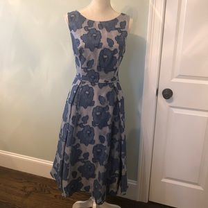 Adrianna Papell fit & flare blue dress